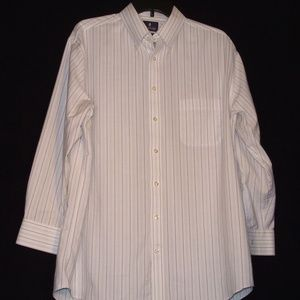 Men's Stafford Stripped Blue & White Button Downed